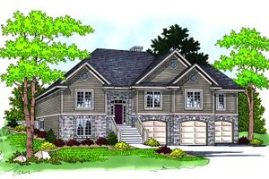 Craftsman Exterior - Front Elevation Plan #70-453