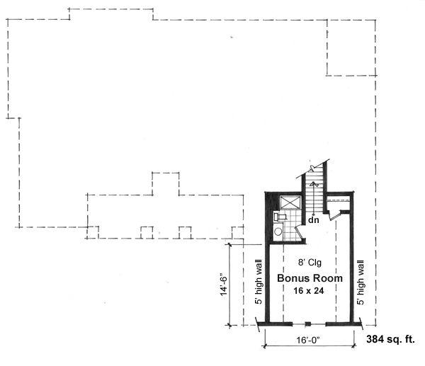 Craftsman Floor Plan - Other Floor Plan Plan #51-515