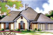 European Style House Plan - 3 Beds 2 Baths 1442 Sq/Ft Plan #45-113 Exterior - Front Elevation