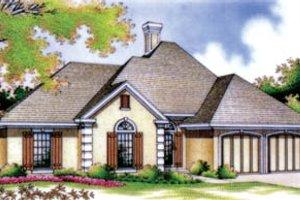 House Blueprint - European Exterior - Front Elevation Plan #45-113