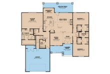 Ranch Floor Plan - Main Floor Plan Plan #923-89