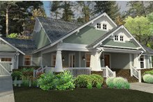 Architectural House Design - Bungalow style, Craftsman design front elevation