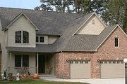 Traditional Style House Plan - 4 Beds 2.5 Baths 2180 Sq/Ft Plan #20-1356 Exterior - Front Elevation