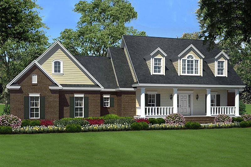 Country Exterior - Front Elevation Plan #21-301