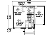Contemporary Style House Plan - 3 Beds 1 Baths 1419 Sq/Ft Plan #25-4734 Floor Plan - Main Floor Plan