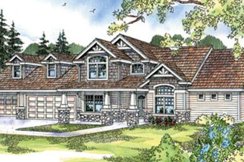Craftsman Exterior - Front Elevation Plan #124-675