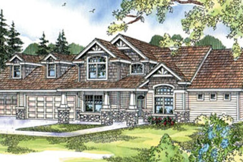 Craftsman Exterior - Front Elevation Plan #124-675