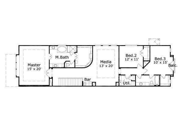 European Floor Plan - Upper Floor Plan Plan #411-692
