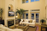 Mediterranean Style House Plan - 3 Beds 3.5 Baths 2374 Sq/Ft Plan #930-16 Interior - Family Room