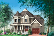 Victorian Style House Plan - 3 Beds 1 Baths 1596 Sq/Ft Plan #25-4708 Exterior - Front Elevation