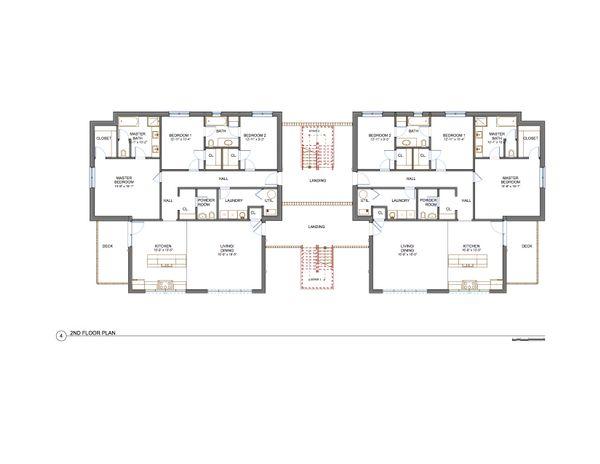 Contemporary Floor Plan - Main Floor Plan Plan #535-14