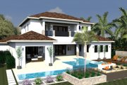 Mediterranean Style House Plan - 4 Beds 5.5 Baths 4167 Sq/Ft Plan #548-16 Exterior - Rear Elevation