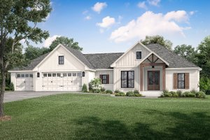 Home Plan - Farmhouse Exterior - Front Elevation Plan #430-240