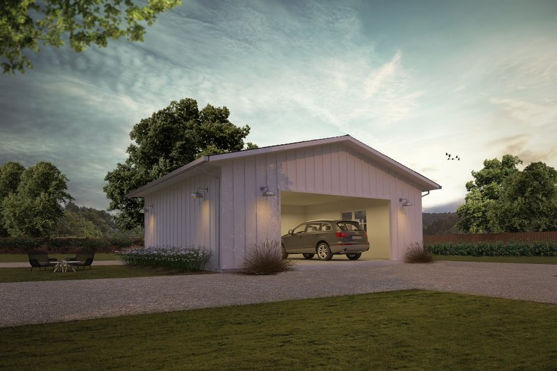 Ranch Exterior - Front Elevation Plan #888-14