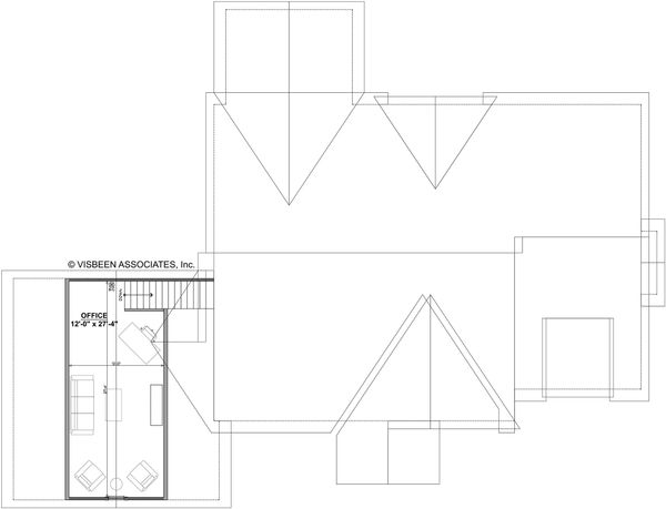 Craftsman Floor Plan - Upper Floor Plan #928-318