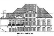 European Style House Plan - 4 Beds 4.5 Baths 5258 Sq/Ft Plan #119-117 Exterior - Rear Elevation