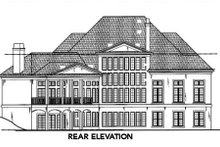 House Plan Design - European Exterior - Rear Elevation Plan #119-117