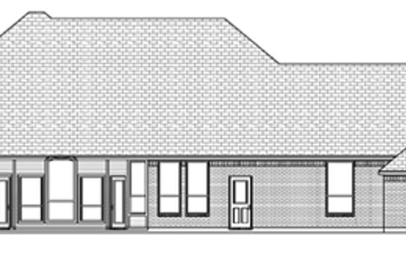 European Exterior - Rear Elevation Plan #84-524 - Houseplans.com