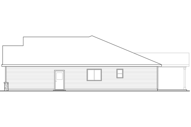 Ranch Exterior - Other Elevation Plan #124-939 - Houseplans.com