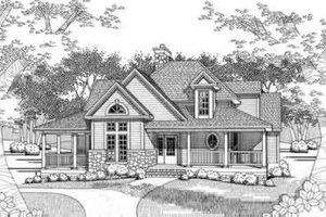 Farmhouse Exterior - Front Elevation Plan #120-118