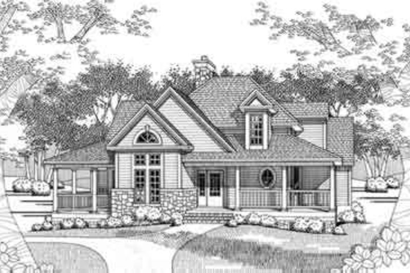 Home Plan - Farmhouse Exterior - Front Elevation Plan #120-118