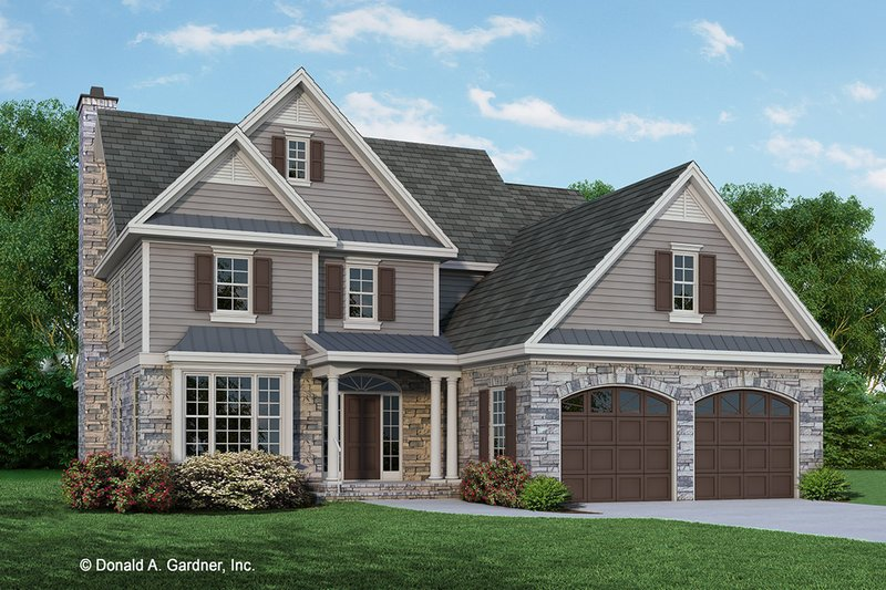 Architectural House Design - Traditional Exterior - Front Elevation Plan #929-695