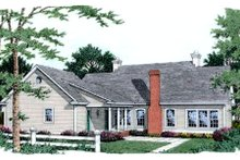 House Plan Design - Southern Exterior - Rear Elevation Plan #406-225