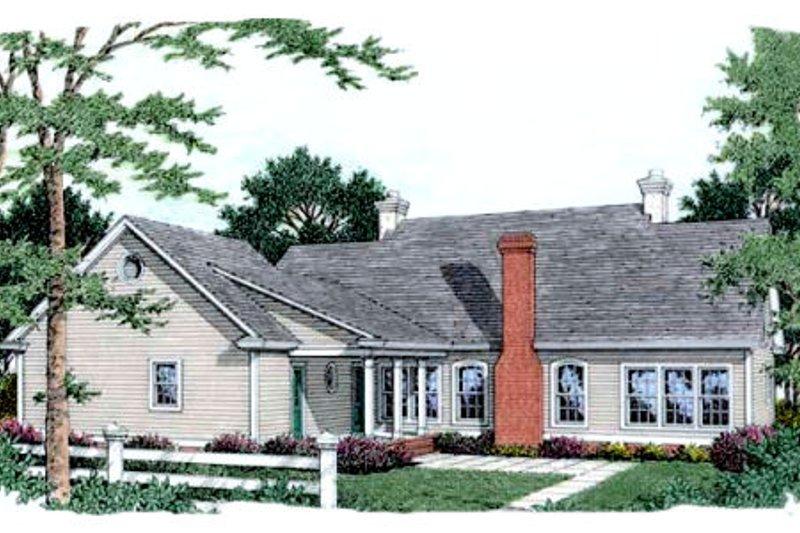Southern Exterior - Rear Elevation Plan #406-225 - Houseplans.com