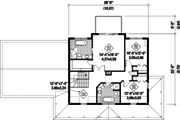 Country Style House Plan - 3 Beds 3 Baths 2369 Sq/Ft Plan #25-4497 Floor Plan - Upper Floor Plan