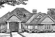 European Style House Plan - 4 Beds 3 Baths 2740 Sq/Ft Plan #310-274 Exterior - Front Elevation