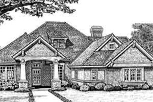 European Exterior - Front Elevation Plan #310-274