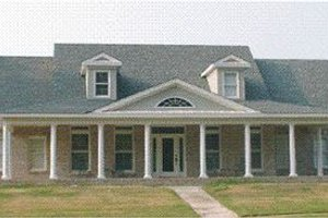 Southern Exterior - Front Elevation Plan #63-111