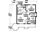 Country Style House Plan - 2 Beds 1 Baths 794 Sq/Ft Plan #25-4388 Floor Plan - Main Floor Plan