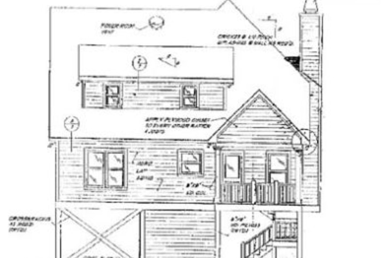 Beach Exterior - Rear Elevation Plan #37-115 - Houseplans.com