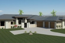 Dream House Plan - Contemporary Exterior - Front Elevation Plan #920-73