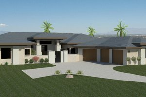 Contemporary Exterior - Front Elevation Plan #920-73