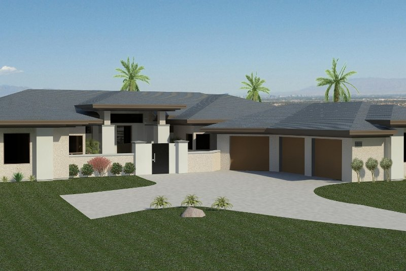 Contemporary Style House Plan - 4 Beds 4.5 Baths 5442 Sq/Ft Plan #920-73