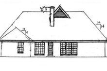 Dream House Plan - Traditional Exterior - Rear Elevation Plan #34-106