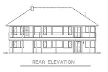 House Blueprint - Traditional Exterior - Rear Elevation Plan #18-1019