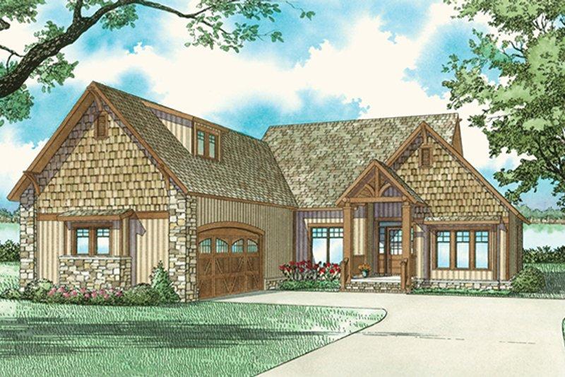 Dream House Plan - Craftsman Exterior - Front Elevation Plan #17-2910