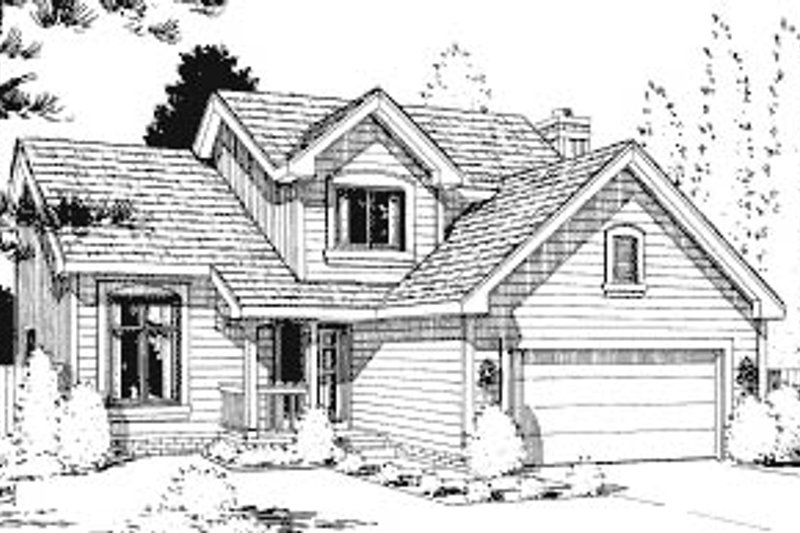 Traditional Exterior - Front Elevation Plan #20-620