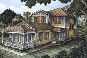 Country Exterior - Front Elevation Plan #115-130