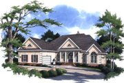 Traditional Style House Plan - 4 Beds 3.5 Baths 3170 Sq/Ft Plan #37-220 Exterior - Front Elevation