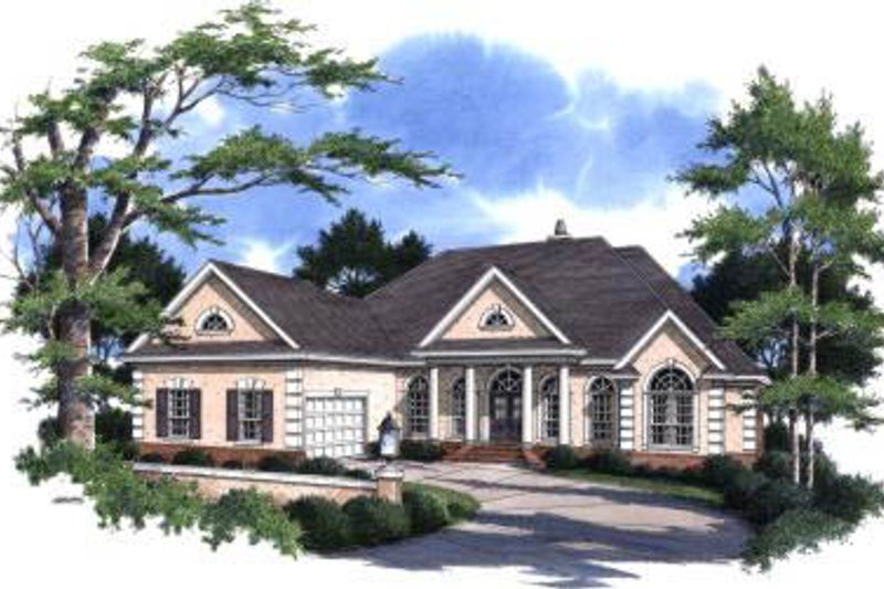 Traditional Exterior - Front Elevation Plan #37-220 - Houseplans.com