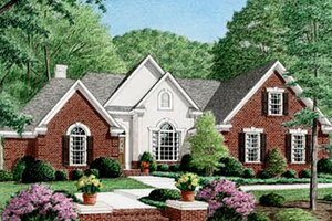 Home Plan - European Exterior - Front Elevation Plan #34-115