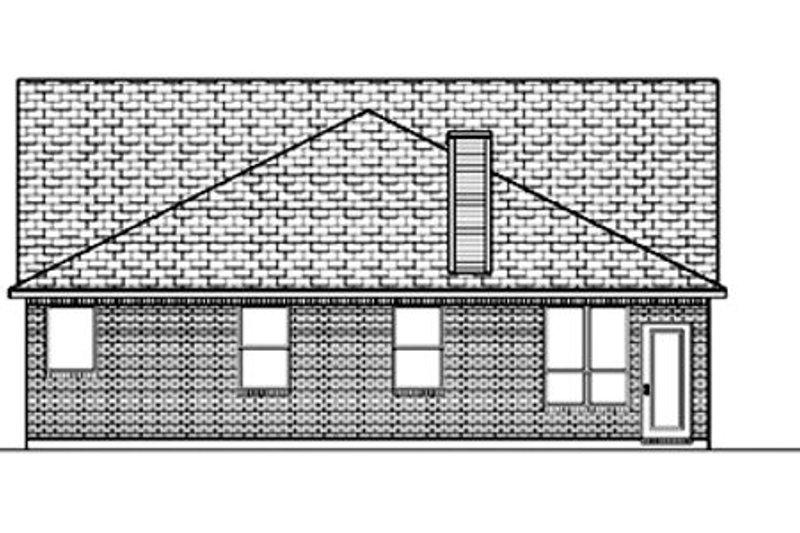 Traditional Exterior - Rear Elevation Plan #84-367 - Houseplans.com