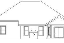 Dream House Plan - Traditional Exterior - Rear Elevation Plan #124-764