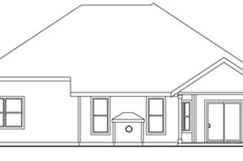 Traditional Exterior - Rear Elevation Plan #124-764 - Houseplans.com