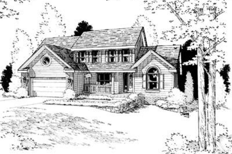 Traditional Exterior - Front Elevation Plan #20-671 - Houseplans.com