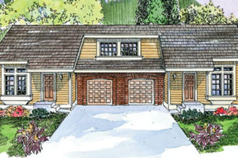 Exterior - Front Elevation Plan #124-677